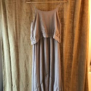 Francesca's Taupe Maxi Dress